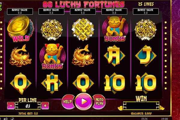 слот 88 Lucky Fortunes