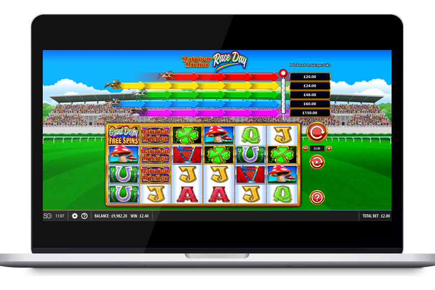 слот Rainbow Riches Race Day.