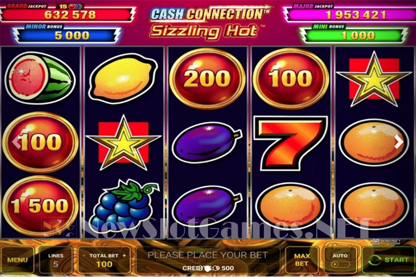 слот Cash Connection - Sizzling Hot.