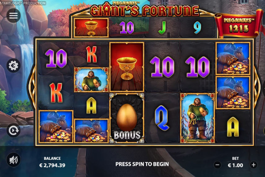 слот Giant's Fortune Megaways.
